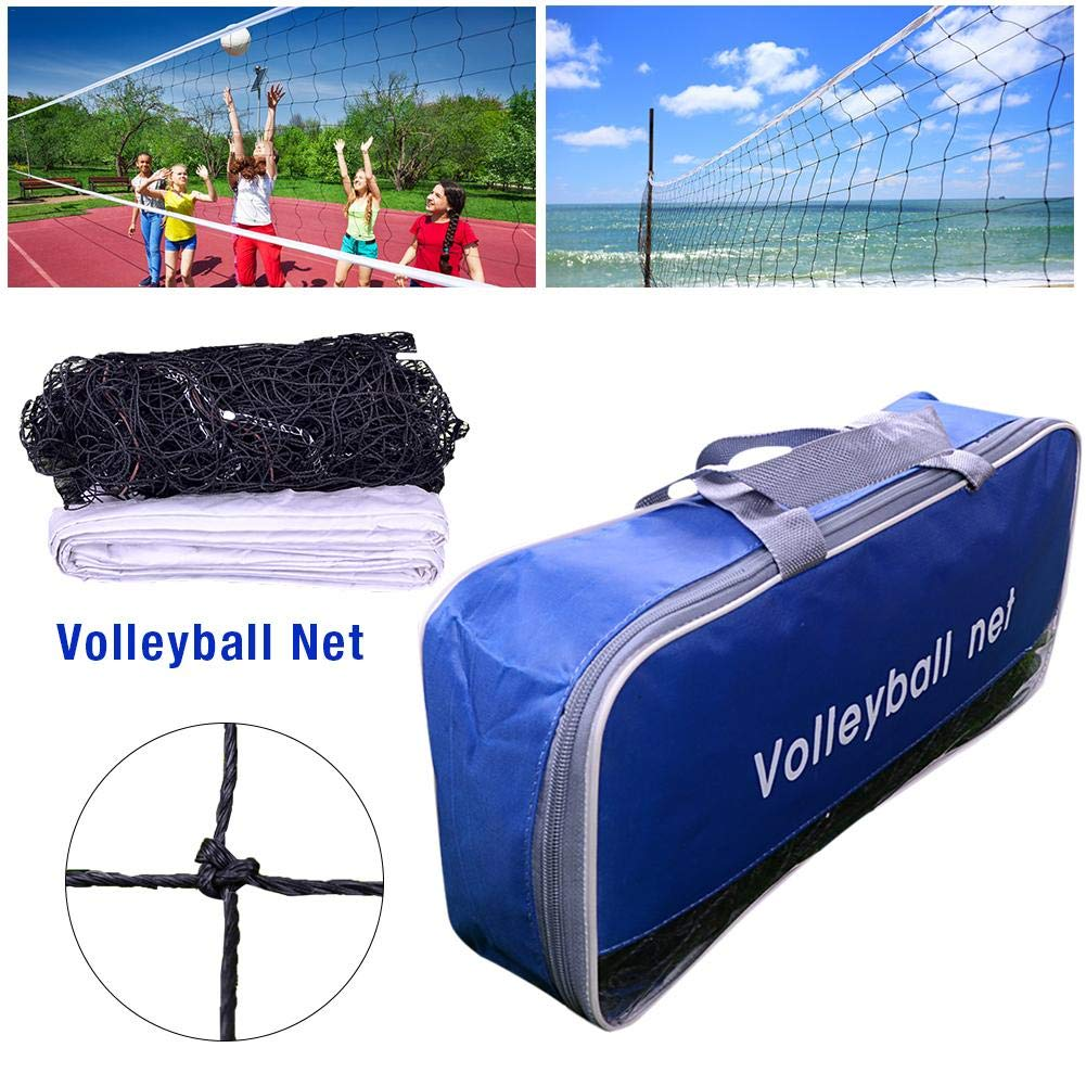 Sue-Supply 9.5m1m Volleyball Net for Practice Training Volleyball Replacement Net for Indoor Outdoor Sports Garden
