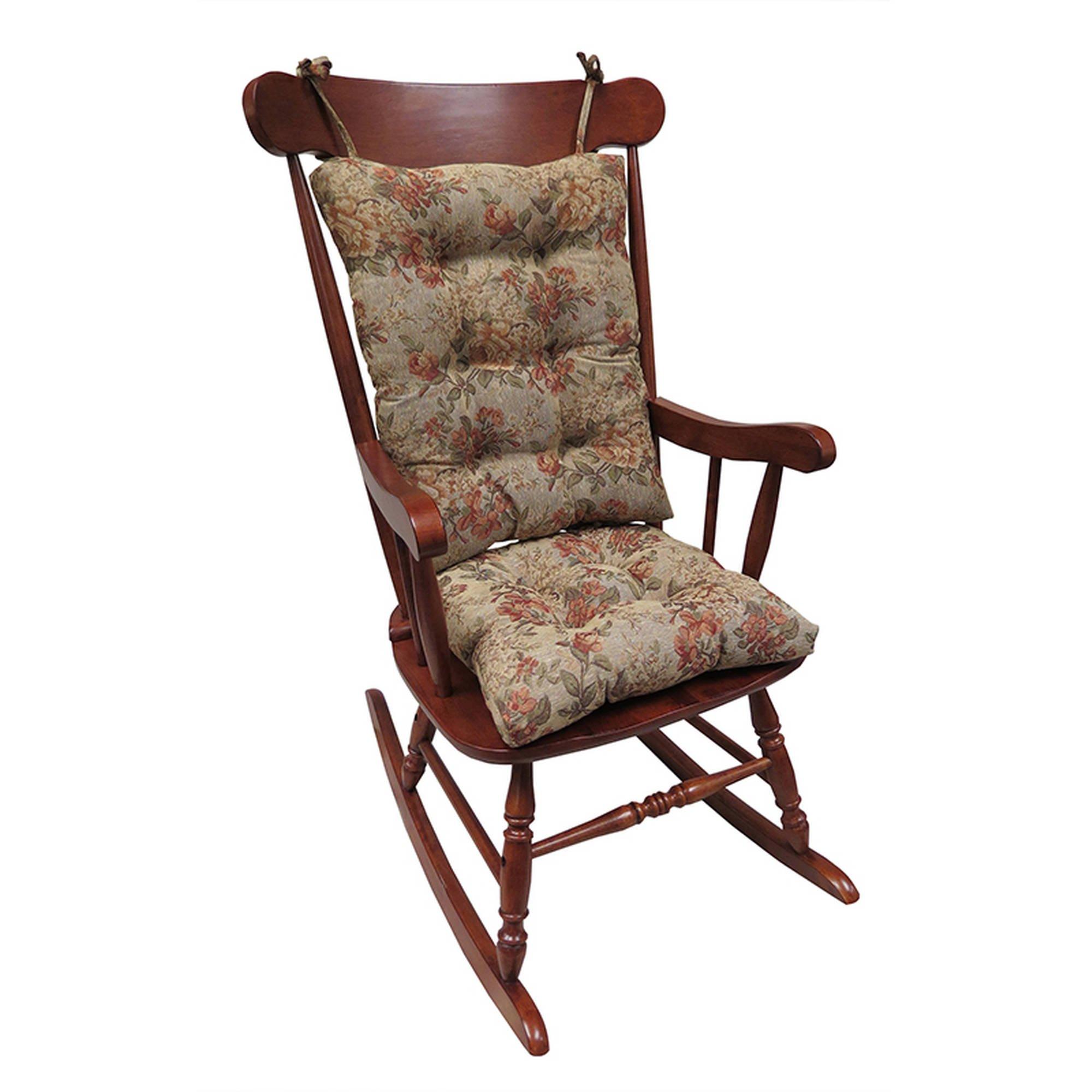 Klear Vu Non-Slip Cushions Gripper Rocking Chair in Somerset Tapestry by Klear Vu