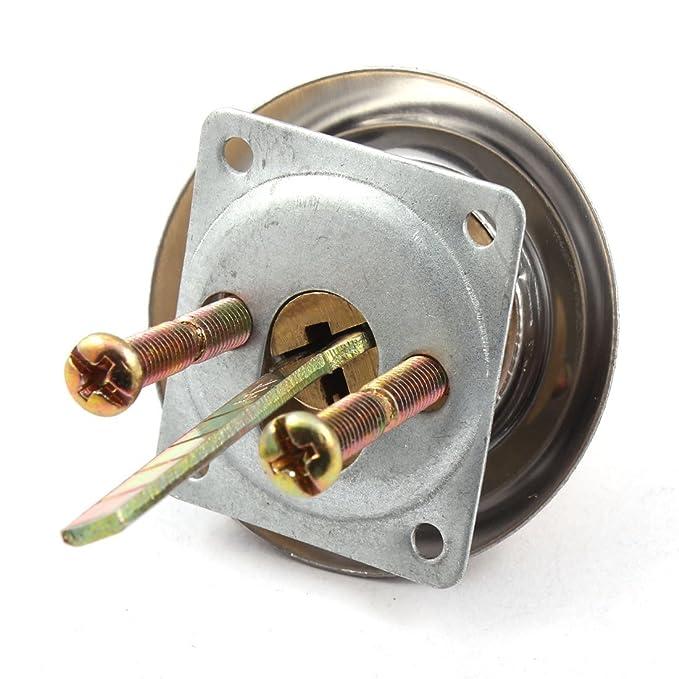 Amazon.com: Tono de Latón eDealMax Core Inicio Tornillo de piezas metálicas del cajón del gabinete de seguridad de la puerta cilindro de la cerradura de ...