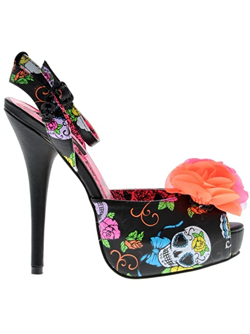 Iron Fist Womens Sweet Tooth Flower Platform IFLPLH12957S147 Black 7 UK, 40  EU: Amazon.co.uk: Shoes & Bags