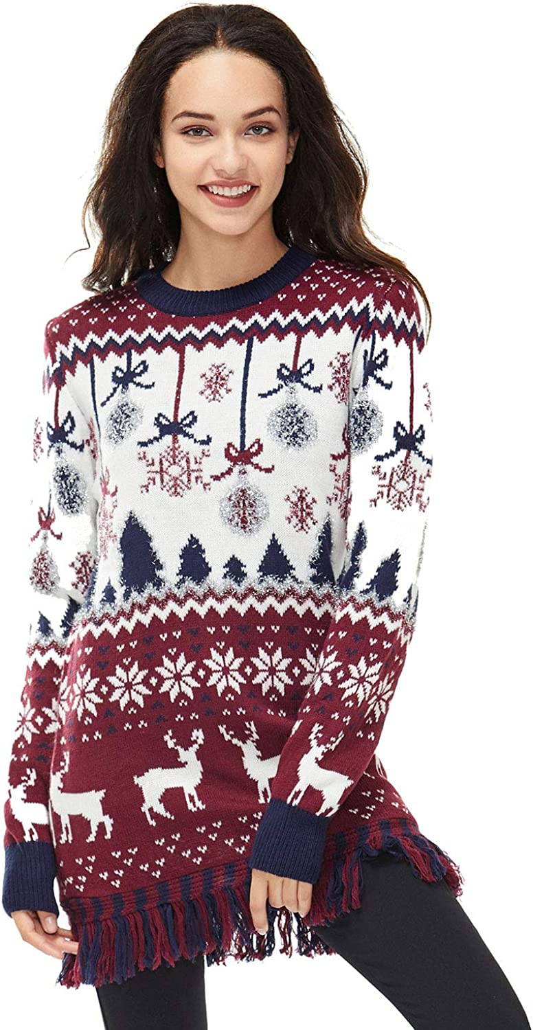Medium Unisex Ugly Womens Christmas Sweater Knitted Classic Fair Isle Funny Novelty Pullover Fabulous