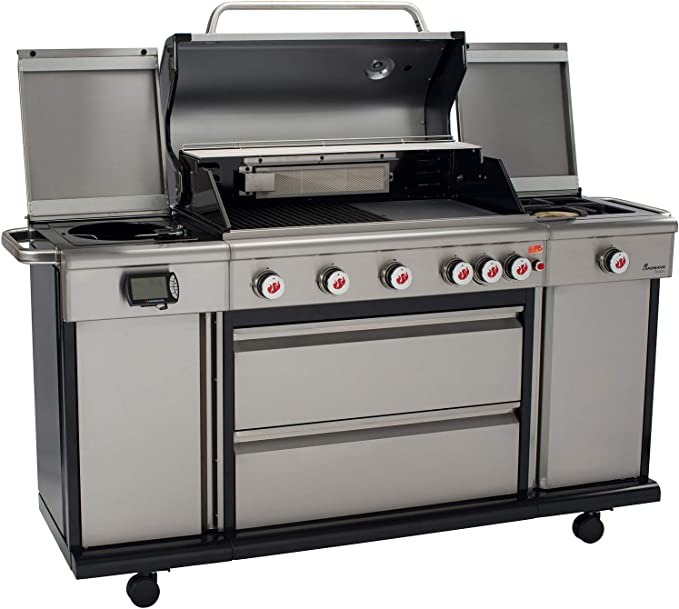 Landmann Triton 6.1 PTS Blue Edition Gas Barbecue Stainless Steel ...