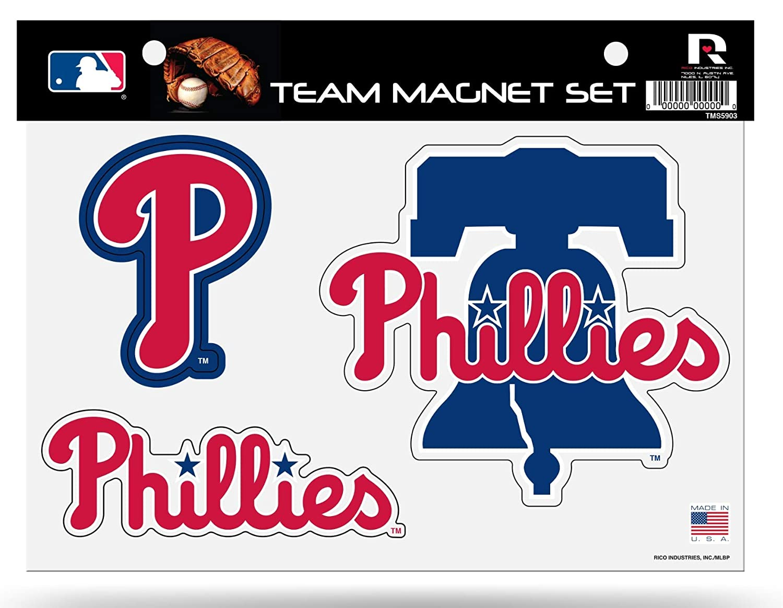 Rico Industries Inc Philadelphia Phillies Multi Die Cut Magnet Sheet Heavy Duty Auto Home Baseball