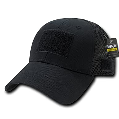 Image Unavailable. Image not available for. Color  Black Tactical Operator  Contractor Patch Low Crown Mesh Baseball Ball Cap Hat d86fac515f7