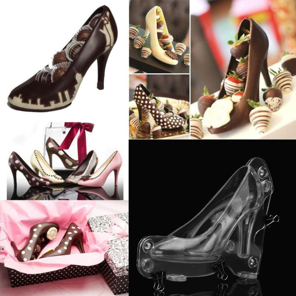 3D High Heel Schuh Schokoladenform Candy Kuchen Gelee Form M BZLine Silikonform