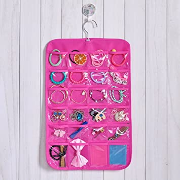 Amazoncom 24 Pockets Jewelry Hanging Storage Bag Wall Holder Door