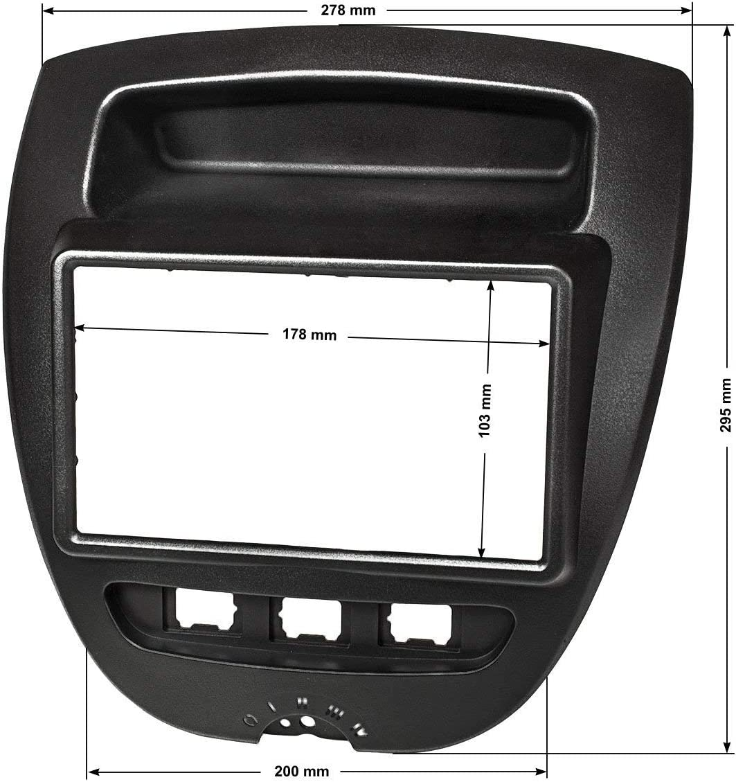 Tomzz Audio 2408 020 Doppel Din Radioblende Kompatibel Elektronik