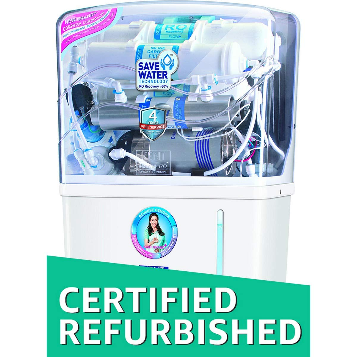 (Certified Refurbished) Kent Grand Plus 8-Litre Mineral RO +