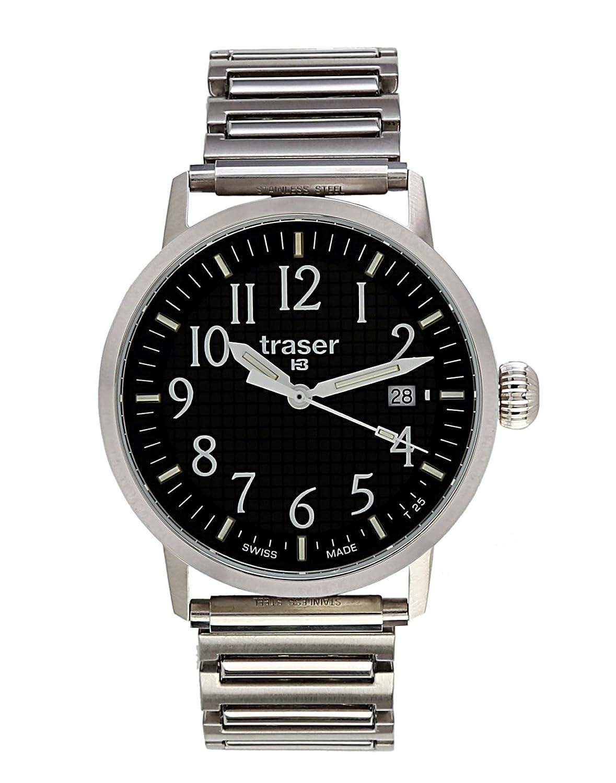 Traser H3 Herrenuhr Classic Basic Black 102375