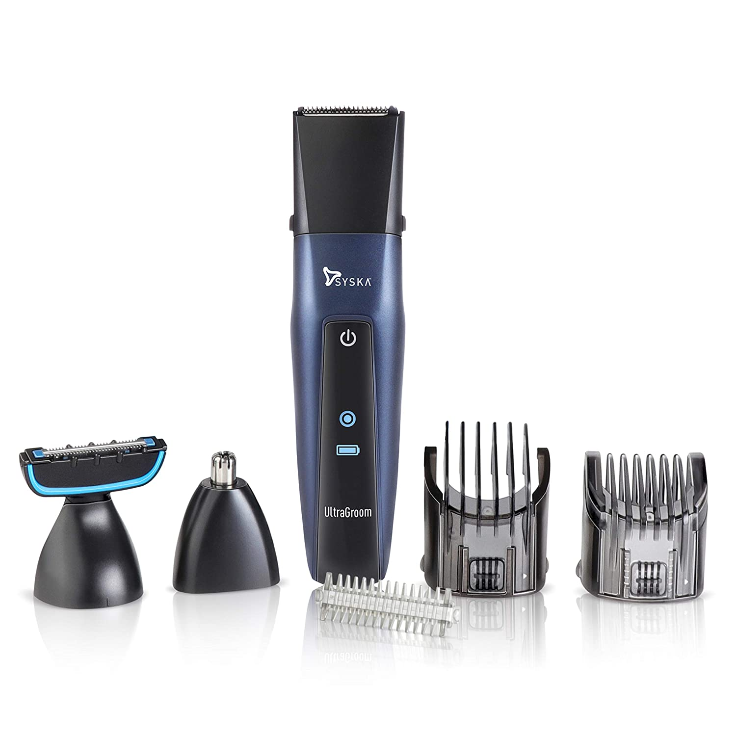 SYSKA HT3030K Ultragroom Pro Styling 5in1 Kit with 50Min Runtime (Blue)