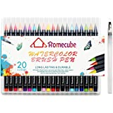 Watercolor Brush Pen, Homecube 20 PCS Different Color Painting Brush, Soft Flexible Tip, Water Coloring Brush Marker Pens for Children Adult Coloring Books, Manga, Comic, Calligraphy
