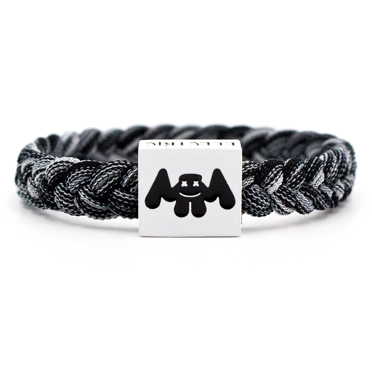 Marshmello version 2.0 fully adjustable multi-colored nylon bracelet by Electric Family