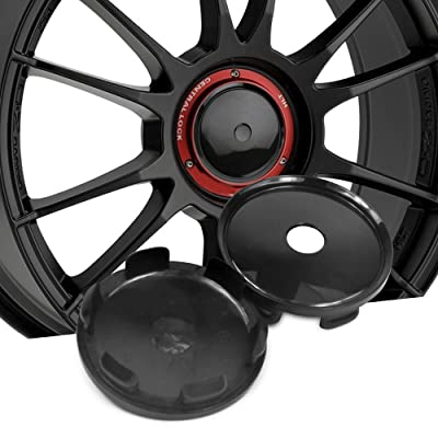 4pcs 68mm ABS Black Wheel Center Hub Caps for OZ Superturismo-LM/PCD 5-120 (excluding 7.5x17) Superturismo-Dakar/PCD 5-12: Automotive