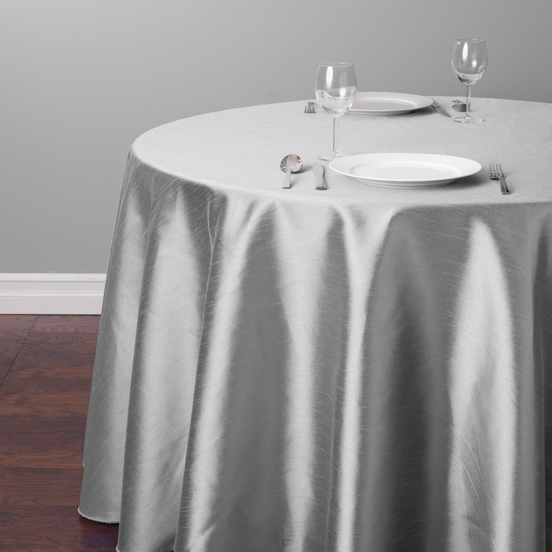 Amazon LinenTablecloth Round Shantung Silk Tablecloth 118