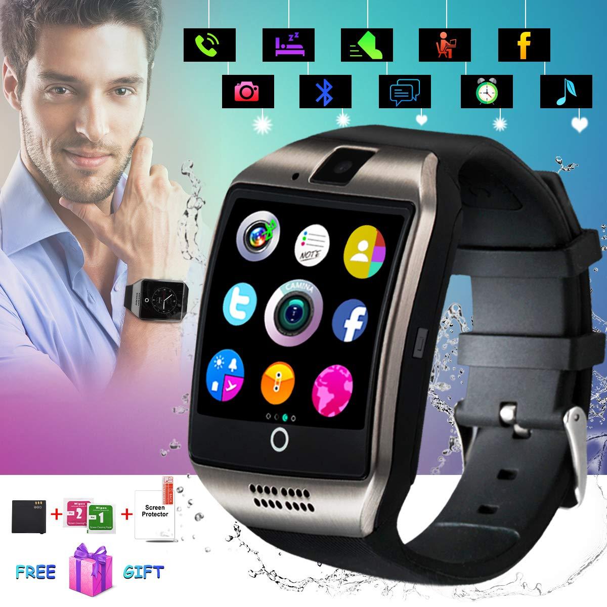 Bluetooth Smartwatch con Camera,Smart Watch Phone Touchscreen,Smart Orologio,Impermeabile Orologio Intelligente con SIM Card Fessura per Android Samsung Huawei ios iphone X 8 7 6 6s 5 Uomo Men Donna product image