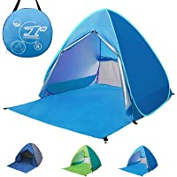 Pop-up Beach Tent Portable 2-3 Person Automatic Instant Beach Tent Waterproof Anti-UV Sun Shelter Protection Beach Shade Camping Tent for Outdoor Activities