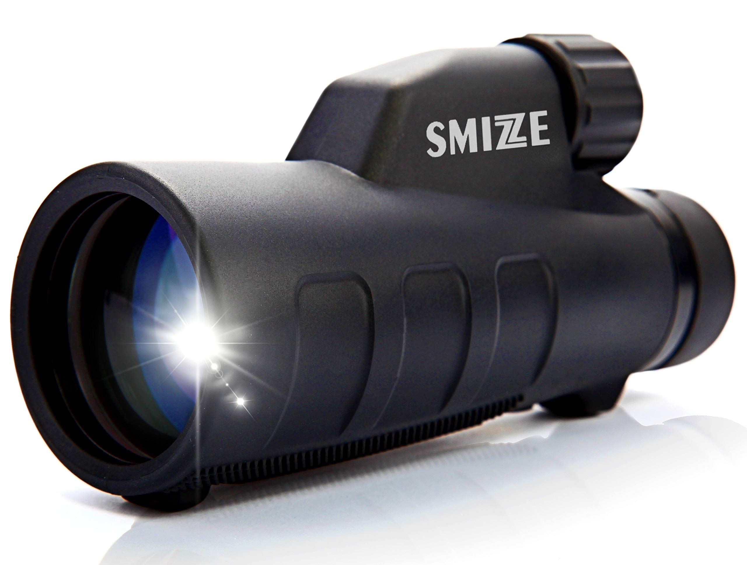 SMIZZE Monocular 12x50 - High Power Scope Fully Multi Coated Optical Lens and Bak-4 Prism - One Hand Focus - Waterproof Highly Durable Compact Telescope for Bird Watching Hunting Travel and Work by SMIZZE