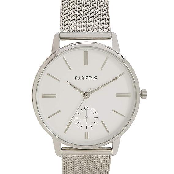 Parfois - Reloj Casual Silver Tray - Mujeres - Tallas Única - Plateado 1: Amazon.es: Relojes