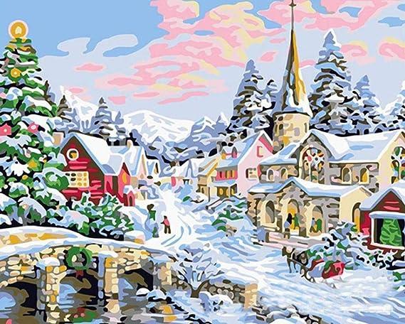 Puzzle Educa 1000 Piezas Pintura Al Óleo De Paisaje Nevado