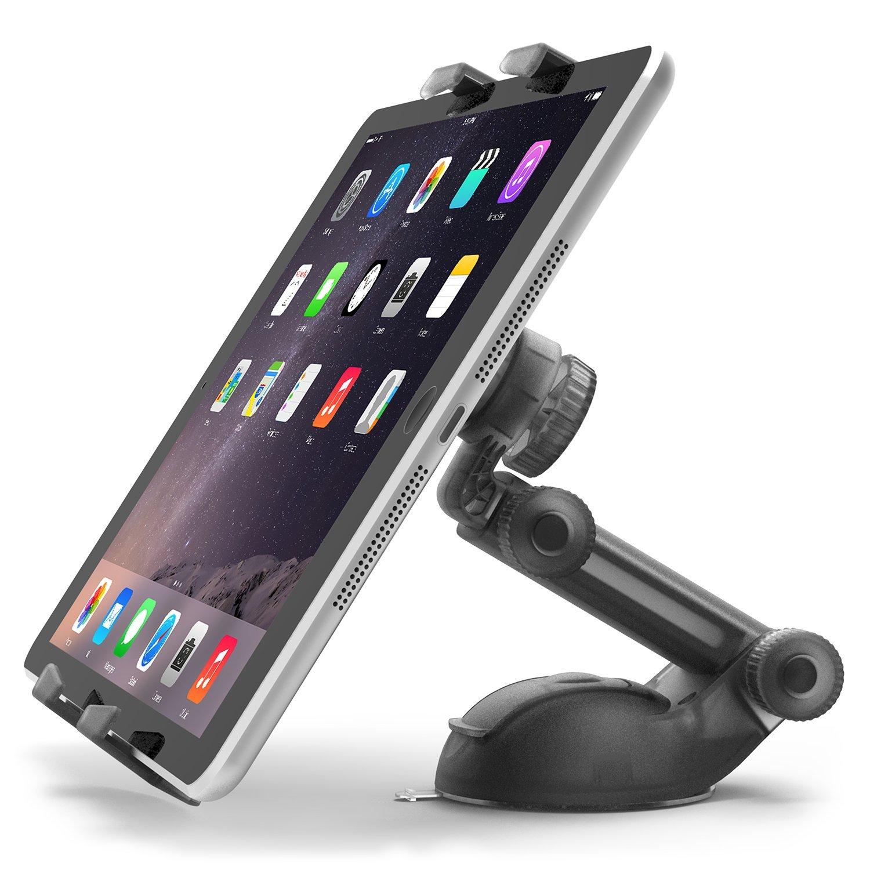 iOttie Easy Smart Tap 2 Universal Car Desk Mount Holder Stand Cradle for iPad Air/4/3/2 iPad Mini/Retina, Galaxy Tab 4/3, Nexus 7, Kindle Fire HD /7/6/ Fire HDX 8.9/7/ Fire 2 - Black by iOttie