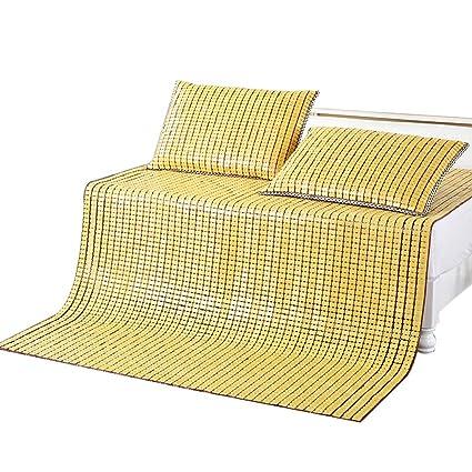 Colchoneta de tres piezas Colchoneta de bambú para verano ...