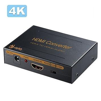 HDMI to HDMI SPDIF RCA Stereo L//R Analog Audio Extractor Splitter Converter Box