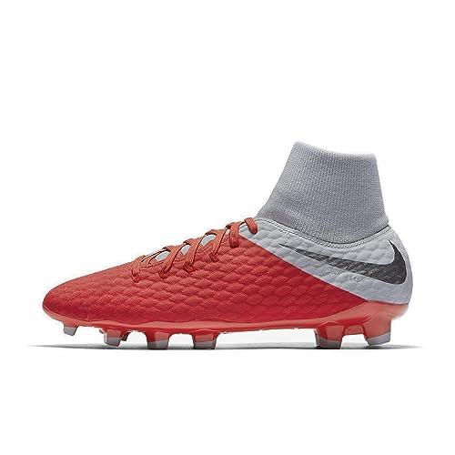 Nike Jr Hypervenom 3 Academy DF FG, Zapatillas de fútbol Sala Unisex Adulto, (Lt Crimson/Mtlc Dark Wolf Grey 600), 38.5 EU: Amazon.es: Zapatos y ...