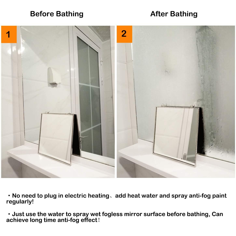Fogless Hanging Shower Bath Mirror Fog Free Shave Fogproof Home Bathroom Tile