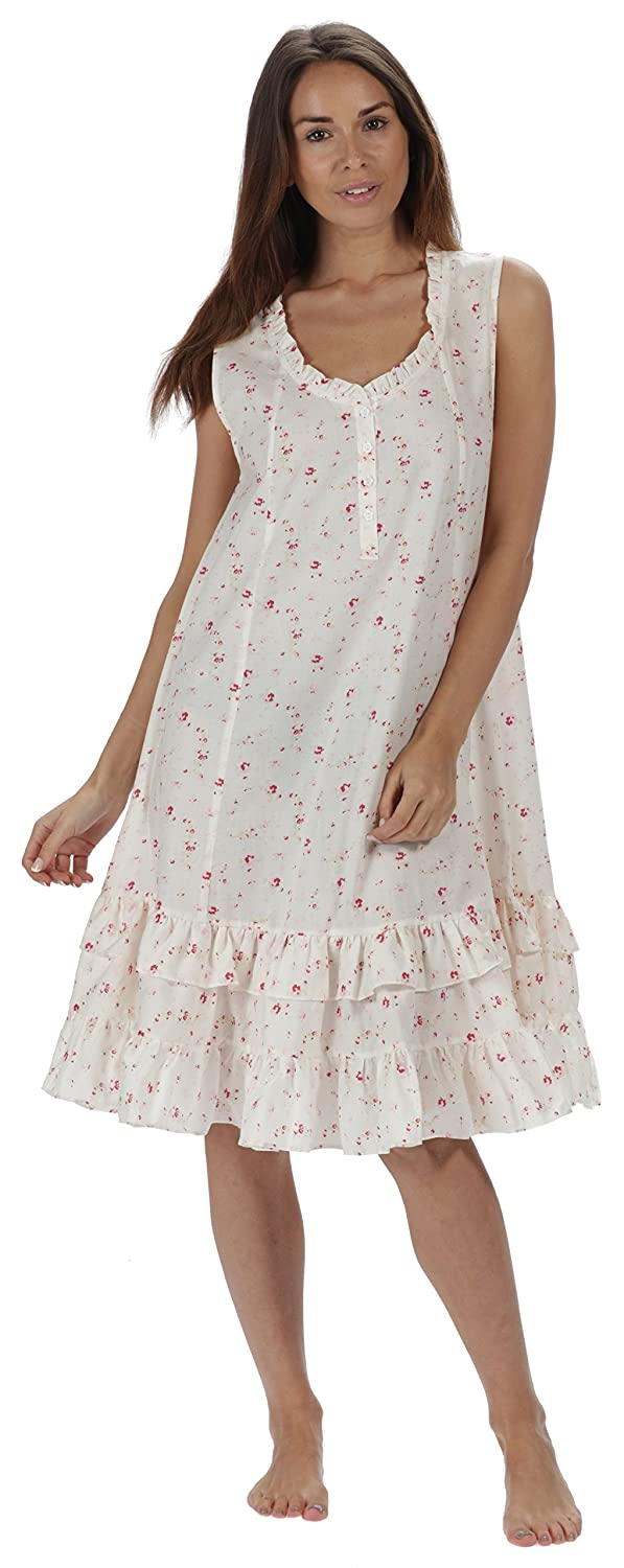 The 1 for U Sleeveless 100% Cotton Nightgown - Layla