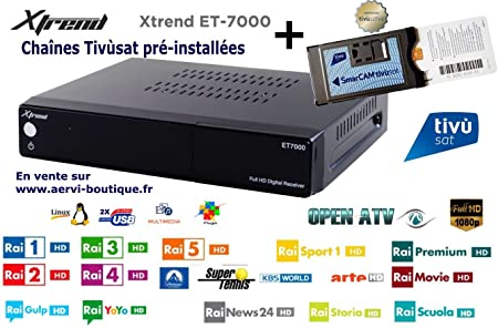 Xtrend et7000 1x DVB-S2 Satellite Receiver HD Tivusat