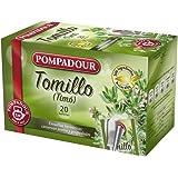 Pompadour Té Infusion Tomillo - 20 bolsitas - [Pack de 5]