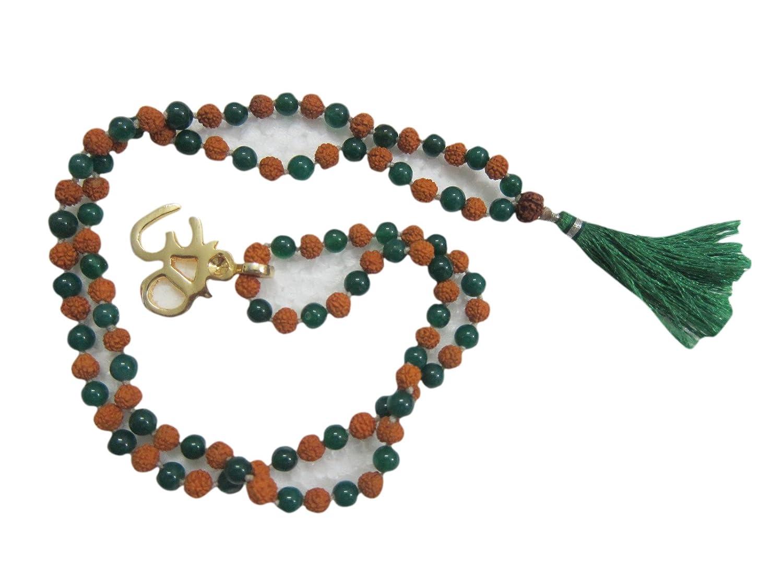 Amazon.com: Mogul Interior Earthing Brass Om Green Jade ...