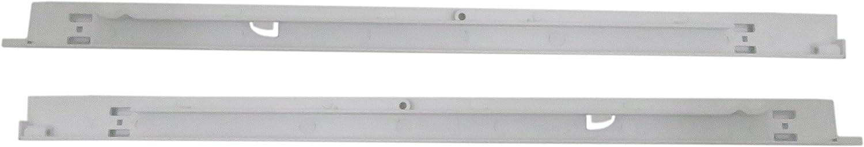 JEM&JULES Refrigerator Pan Hangers (Left & Right) Replacement for Kenmore & Frigidaire Refrigerators Repl. 240530601 & 240530701