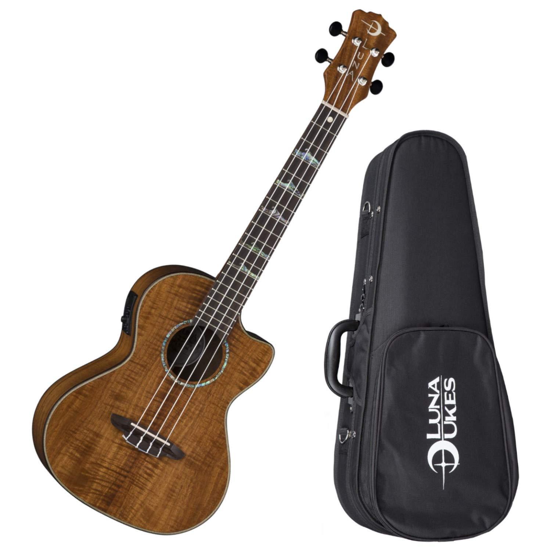 Luna Guitars Uke High Tide Tenor A/E - Koa Ukulele w/Gigbag