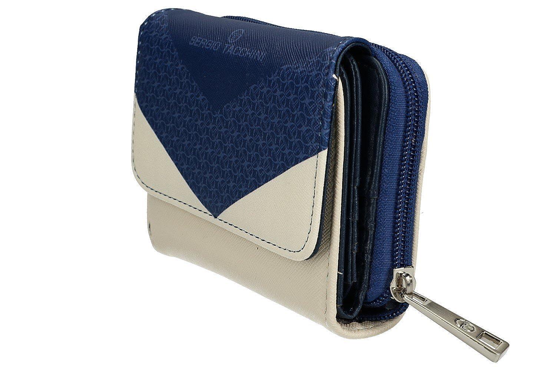Sergio Tacchini Cartera mujer azul con abertura zip y botón VA2539: Amazon.es: Ropa y accesorios