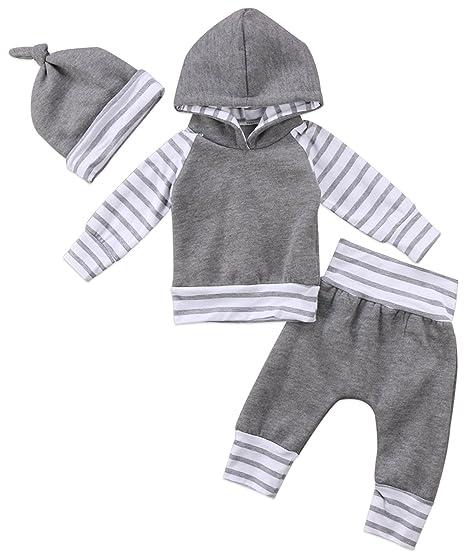 5840c6fcb Amazon.com  gllive Newborn Baby Boy Warm Hoodie Long Sleeve Hoodie ...