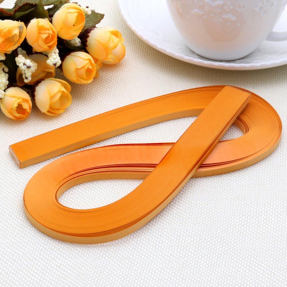 Haorw Papier Quilling Set 120-Streifen 52cm L/änge//Streifen Papierbreite 5mm Orange