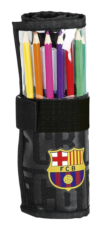 Safta Estuche Enrollable F.C.Barcelona Black Oficial Útiles ...