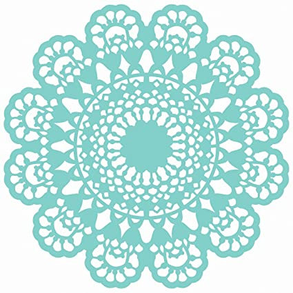 Amazon.com: Kaisercraft Scrapbooking Template, 12 by 12-Inch, Lace Doily