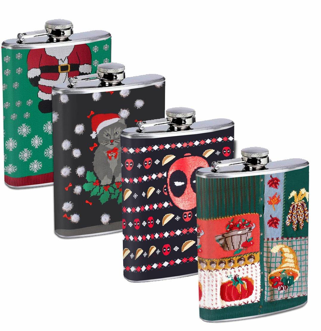 全商品オープニング価格! 醜いクリスマスセーター面白いギフトセット4 – – 8オンスステンレススチールFlasks Drinking Whiskeyウェディング B01MTK9PE2 Drinking B01MTK9PE2, シンマチ:20031114 --- a0267596.xsph.ru