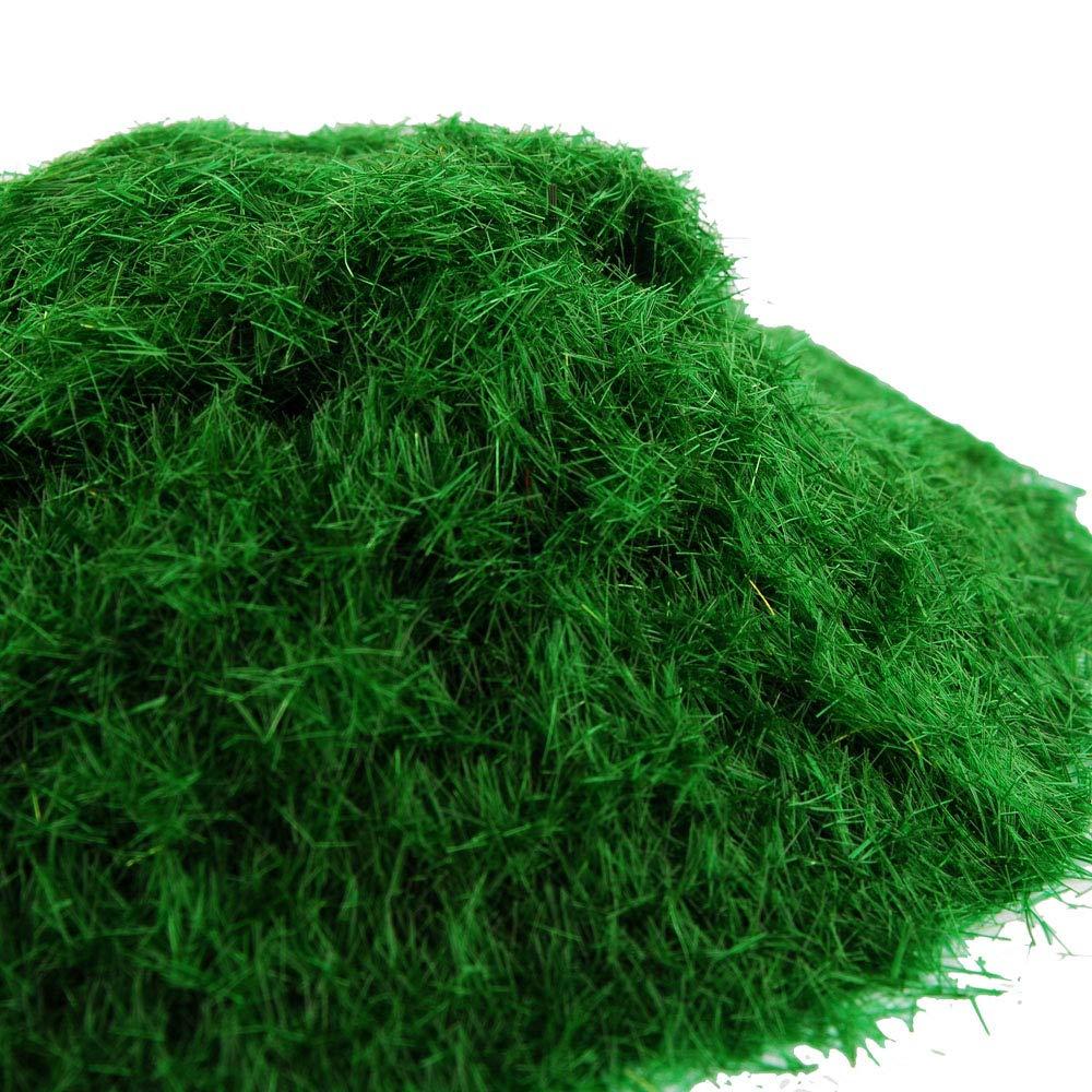 NWFashion 20G Dress Tree Flower Static Grass Dressing Scatter Flock for Miniatures Model Yellow Green