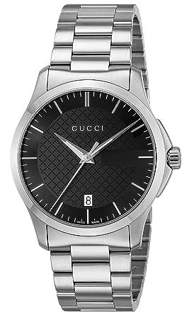 new arrival 1d9b3 afcbc [グッチ]GUCCI 腕時計 Gタイムレス ブラック文字盤 YA126457 メンズ 【並行輸入品】