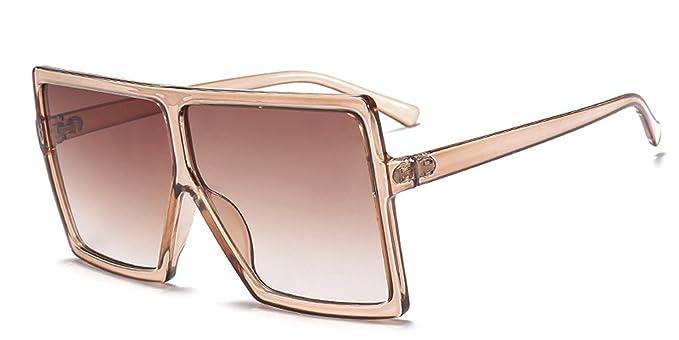 991b467eef7 Image Unavailable. Image not available for. Color  COOCOl Sunglasses Women  Brand Designer Big Frame Square Sunglasses Vintage ...