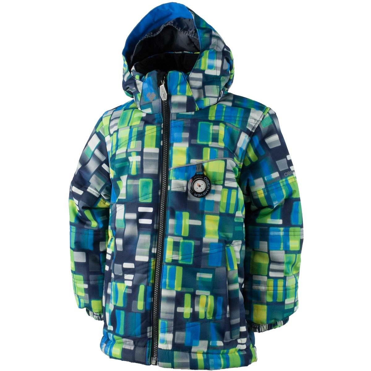 Obermeyer Boys Boys' Stealth Jacket, 7, Blue