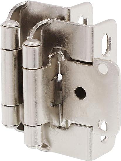 Decobasics 1 2 Overlay 3 4 Frame Partial Semi Wrap Cabinet Hinge Satin Nickel 25 Pairs Pack 50 Pcs Amazon Com