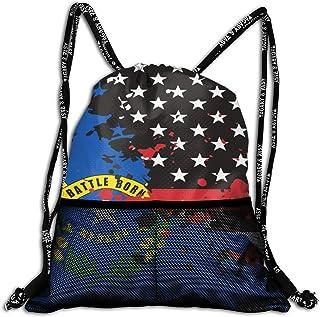 Hipiyoled Nevada Thin Red Line Flag USA Durable Sport Drawstring Backpack for School Soccer Yoga