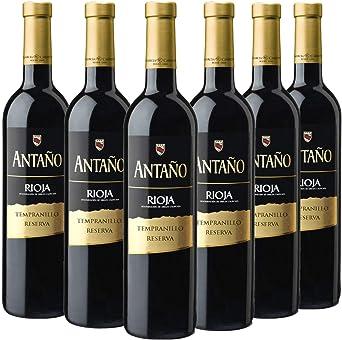 Antaño Reserva - Vino Tinto D.O Rioja - Caja de 6 botellas x 750 ml: Amazon.es: Alimentación y bebidas