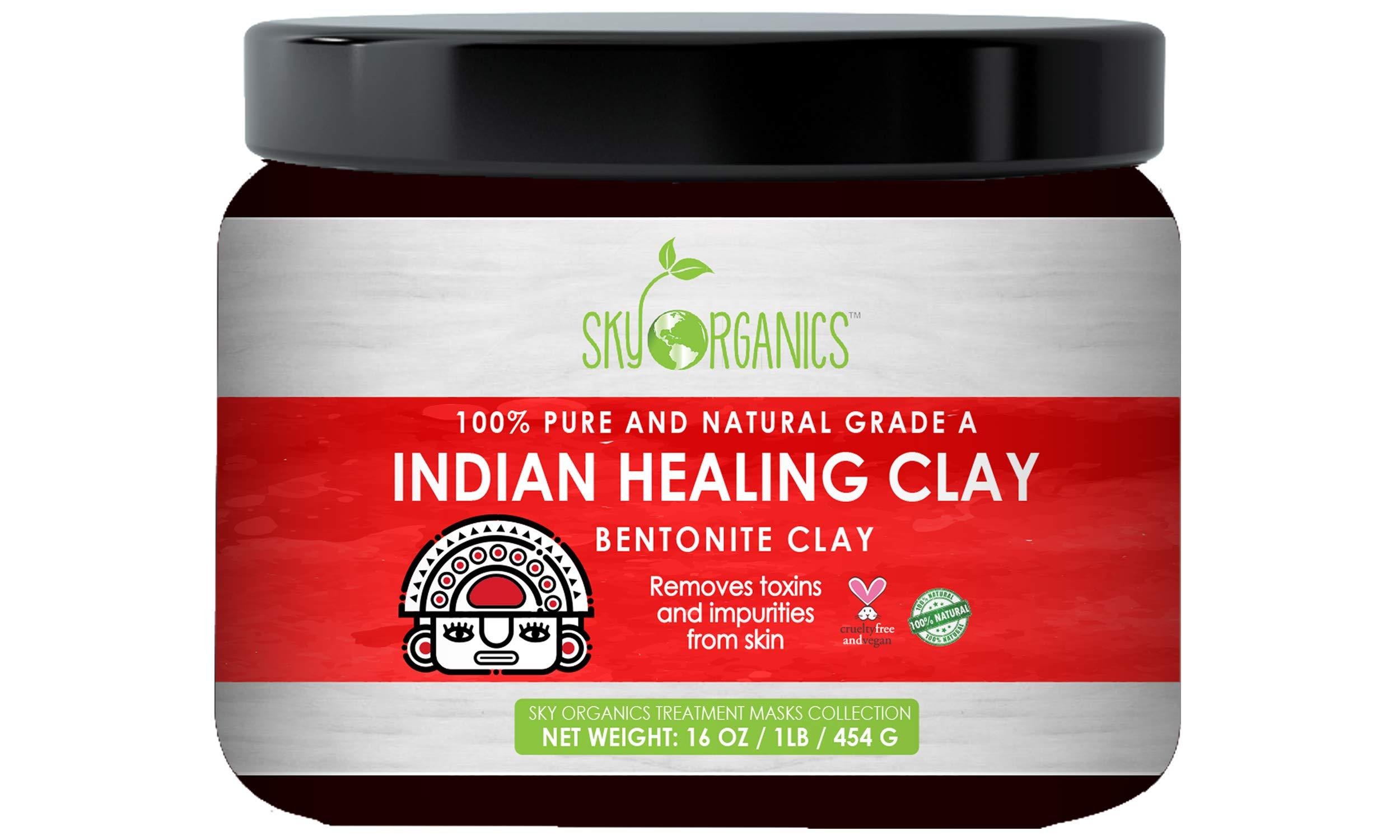 bf9dc77120e31 Amazon.com : Indian Healing Clay 16oz -100% Pure & Natural Bentonite ...
