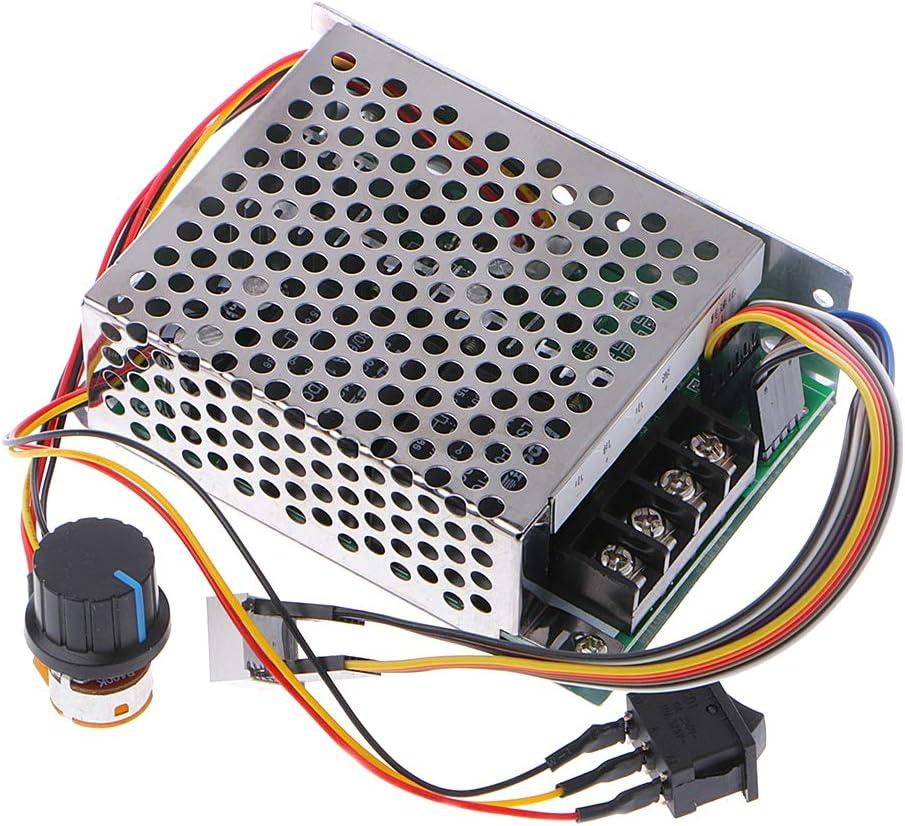 DC 10-55V 60A PWM Motor Speed Controller CW CCW Reversible Switch 12V 24V 48V UK