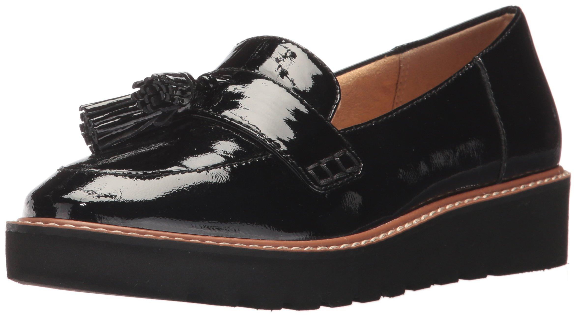 Naturalizer Women's August Slip-on Loafer, Black, 7 W US